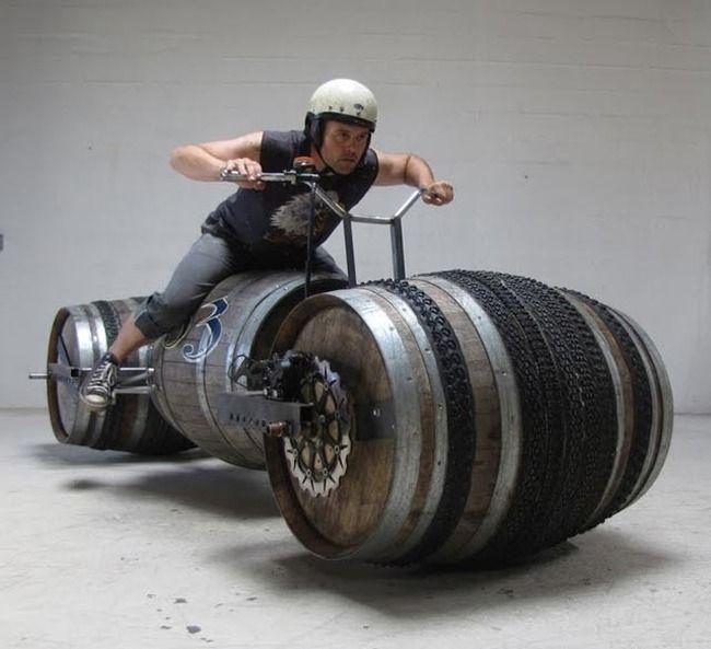 Мотоцикл из пивных банок